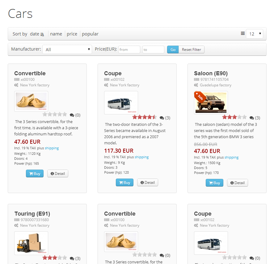Template for JoomShopping based Uikit2