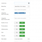 Detailed product attribute list in JoomShopping