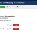 Масове заповнення аліасів для JoomShopping