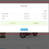 Modal effect for Module Cart Uikit